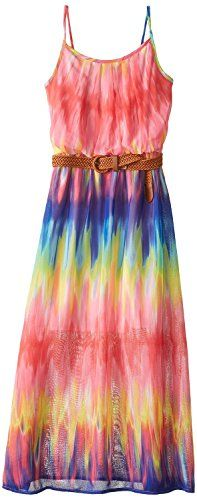 Saman Big Girls Printed Chiffon Maxi Dress Pat XPinkNavy 12 * You can find out more details at the link of the image.