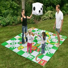 """""""Our range of outdoor board games are based on the traditional indoor games just made bigger. These games make the perfect Lawn Games or Picnic Games as they are portable and easy to store. These games include Giant Draughts, Giant Chess, Giant Ludo and Snakes and Ladders as well as an outside version of Twister."""""""