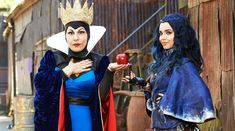 "Disney Descendants Evil Queen and Evie...the apple doesn't fall far from the tree. WHERE IS EVIE?! More ""Descendants"" on the way! READ IT HERE: http://grown-up-disney-kid.tumblr.com/post/127171864874/cant-get-enough-descendants-wheres-evie"