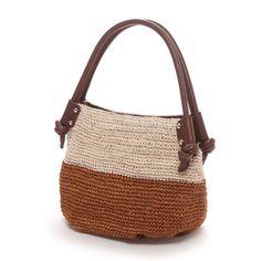 トプカピ TOPKAPI アバカ・バイカラー・ミニトートバッグ(キャメル) -「買ってから選ぶ。」靴とファッションの通販サイト ロコンド