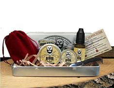 Great gift Set for Men with a beard or mustache. Containing moustache wax, beard oil, finest beard balm, and mini beard comb grooming kit in a nifty aluminium tin. Moustache, Beard No Mustache, Beard Grooming Kits, Men's Grooming, Best Beard Kit, Tin Gifts, Beard Balm, Hair And Beard Styles, The Balm