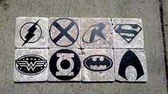 Justice League Coaster Set by GeeVeeWorks on Etsy, $20.00