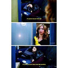 "#Brooklyn99 2x09 ""The Road Trip"" - Det. Diaz and Gina"
