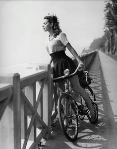 "Susan Peters 1942  From the book""Hollywood Rides a Bike""  by Steven Rea"