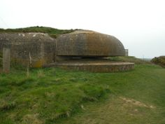 """Near Fecamp, Haute Normandie. Many """"blockhaus"""" have survived World War 2 and are physical witnesses of the German defense"""