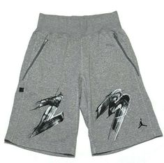 fa3629e24d6 Nike 23 Jumpman Logo Shorts Large Gym Basketball Long Athletic Gray Sweats # Nike #Sweatshorts #Casual
