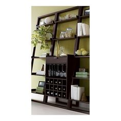 Sloane Espresso Leaning Wine Bar in Bar Cabinets