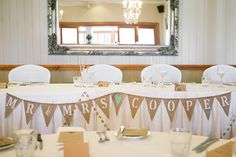 Real Wedding: Caragh + Mark » Queensland Brides | Bunting with the bride and groom's name? Quaint but chic.