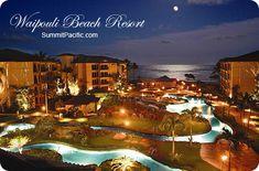 Waipouli Beach Resort at night. Hmmmm....so tempting  Kauai