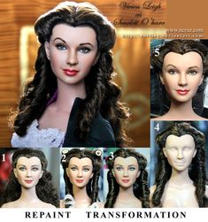 custom doll repaint Vivien Leigh Scarlett O'hara by *noeling on deviantART