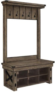 Altra Wildwood 5-Hook Entryway Storage Bench  sc 1 st  Pinterest & Shanty Hall Tree Bench for the Entryway | Pinterest | Mudroom Bench ...