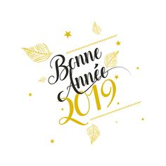 Happy New Year 2019 : QUOTATION – Image : Quotes Of the day – Life Quote Carte de voeux entreprise Calligrachic Sharing is Caring