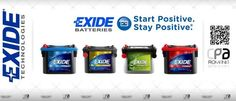 Acumulatori auto, baterii auto EXIDE.  EXIDE® Automotive Batteries. Start Positive. Stay Positive.