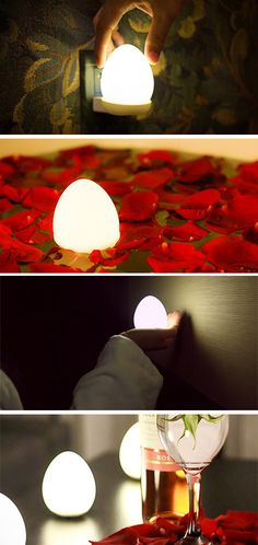 This cute little egg is a portable wireless lamp