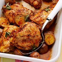 rosemary baked chicken with potatoes