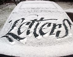 """Check out new work on my @Behance portfolio: """"Letters on snow"""" http://be.net/gallery/46513431/Letters-on-snow"""