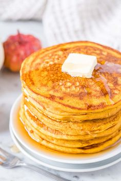 Our Pumpkin Pancakes are so easy to make and bake up thick and fluffy! They are special enough for Thanksgiving breakfast but simple enough for every day. Pumpkin Pancakes Easy, Pumpkin Crunch Cake, Pumpkin Cream Cheese Muffins, Pumpkin Cream Cheeses, Pumpkin Puree, Pumpkin Spice, Brunch Recipes, Cake Recipes, Kitchens