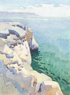 Margo's Eternal Pacific by carolyn lord Watercolor ~ 15 x 11