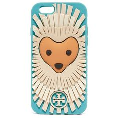 Tory Burch Polly Porcupine iPhone 6 / 6s Case ($61) ❤ liked on Polyvore featuring accessories, tech accessories, phone cases, blue, tory burch tech accessories, apple iphone cases, tory burch, iphone silicone case and iphone case