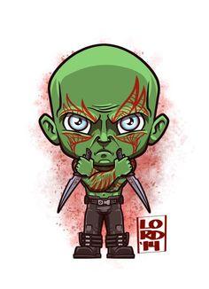 Guardians of the Galaxy - Lord Mesa Art Marvel Cartoons, Marvel Dc Comics, Disney Marvel, Logo Super Heros, Lord Mesa Art, Drax The Destroyer, Chibi Marvel, Drawing Superheroes, Marvel Characters