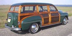 Plymouth woody station wagon 1949