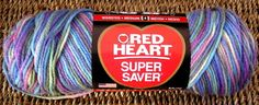 Red Heart Super Saver Yarn #0310 Monet Multi Variegated 5 Oz Worsted Acrylic