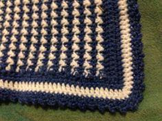 River's edge crochet baby blanket