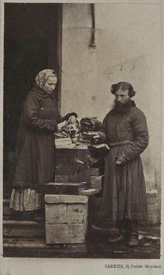 Уличные торговцы тканями.Царская Россия в лицах. 1860-1870-е (25)