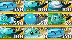 All Ice Plants Max Level Up in Plants vs. Fusion Card, Ice Plant, Zombie 2, Level Up, Types Of Plants, Minecraft, Cards, Maps, Playing Cards