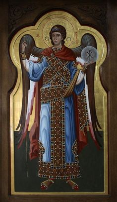 Byzantine Art, Byzantine Icons, Early Christian, Christian Art, Religious Icons, Religious Art, Order Of Angels, Angel Warrior, Archangel Michael