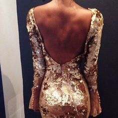 Sequins. Low back. Tan. Need I say more?