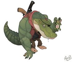 Leatherhead TMNT by ~WonderDookie on deviantART