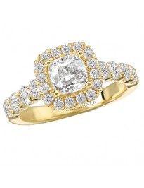 Halo Semi-Mount Diamond Ring from Love by Romance.