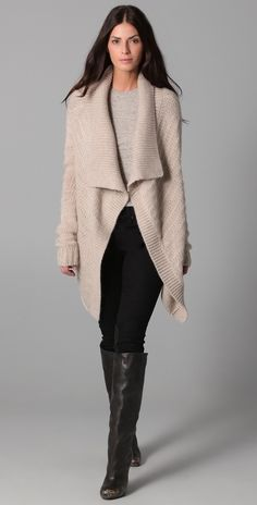 DKNY chunky sweater. Love the color!!!!