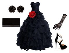"""Emphasis"" by akansha125 on Polyvore featuring Christian Louboutin, Black, Erica Lyons and Balmain"