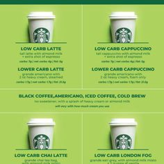 Upgrade that boring old black coffee with these incredibly delicious low carb starbucks drinks! From coffee to tea, this sugar free / keto list has got you covered! Low Carb Starbucks Drinks, Starbucks Recipes, No Carb Snacks, Low Carb Chips, Cheese Chips, Spinach Salad, Roasted Potatoes, Gourmet Recipes, Keto Recipes