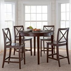Dining Possibilities 5-pc. Counter-Height Round Dining Set  found at @JCPenney