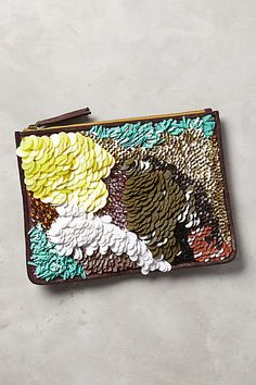 Feathered Paillette Pouch On sale for $49.95 and 25% off for Black Friday!!