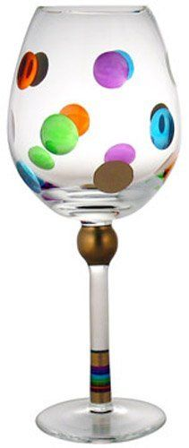 MoMo Panache Cheers Wine Glass, 14-Ounce, Set of 4 by MoMo Panache. $65.45. Hand painted glass. Food safe. Hand wash only. 4 Wine glasses. Cheers. Four piece set of 14-ounce mouth blown, hand cut and hand painted wine glasses designed by Australian artist, Helen James. Fun, Festive and Fabulous-Cheers is the life of any party with its bright color dots and gold accents.
