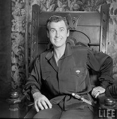 """Stewart Granger durante el rodaje de """"El Prisionero de Zenda"""", 1952"""