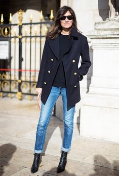 Paris Fashion Week F/W 2014 Street Style: Emmanuelle Alt Spring Fashion Outfits, Fashion Week, Look Fashion, Paris Fashion, Net Fashion, Fashion Mode, Runway Fashion, Fall Fashion, Fashion Tips