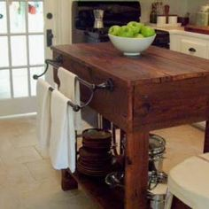 How to build a rustic kitchen island