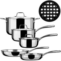 Duxtop Whole-Clad Tri-Ply Stainless Steel Induction Ready Premium Cookware 9-Pc Set Duxtop http://www.amazon.com/dp/B00HLB2TCI/ref=cm_sw_r_pi_dp_nGXJub1SAYGMM