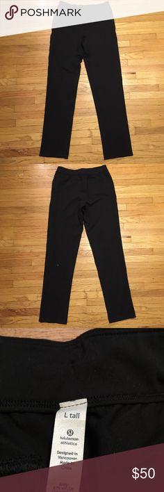 Lululemon mens black workout pants - large Lululemon mens black workout pants - large. Waist - 16.5 inches. Rise - 10.5 inches. Inseam - 35 inches. Excellent condition lululemon athletica Pants Sweatpants & Joggers