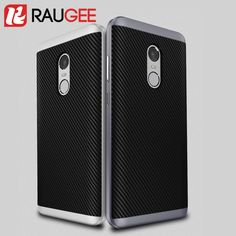 4.39$  Watch now - RAUGEE Original Case For 5.5inch Xiaomi Redmi Note 4 Pro/Prime Shield Matte Carbon Fibre Case Cover TPU PC Soft Silicon Case   #aliexpresschina