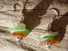 Seaglass earrings, #seaglass #earrings
