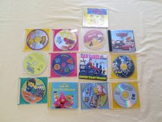 Various kids CDs and DVDs - $1 each