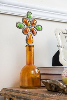 Bohemian Glass Bottle w/ Crystal Stopper ★ Creative Co-Op Home