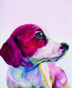 "Saatchi Online Artist: Jenny Cottingham; Acrylic, 2011, Painting ""Buddy"""