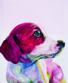 "Saatchi Online Artist: jenny Cottingham; Acrylic, 2011, Painting ""Buddy""  Reminds me of my little dog... I miss him :'("